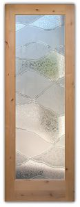 interior glass door frosted glass rustic style mountains pattern