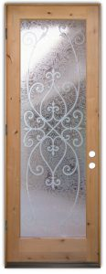 Interior Glass Doors Etched Glass Tuscan Decor Wrought Iron Mediterranean