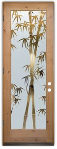 interior glass doors glass etching leafy forest asian style sans soucie bamboo shoots