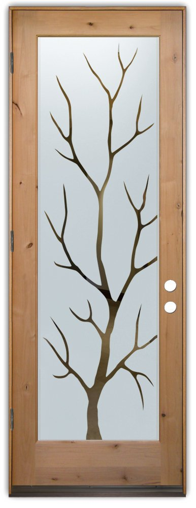 interior glass door sandblasted glass wooden natural design rustic style sans soucie branch out