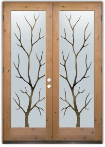 double entry doors etched glass designs wooden outdoors rustic style sans soucie branch out