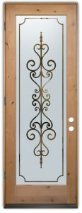 interior glass door carmona wrought iron mediterranean etched glass