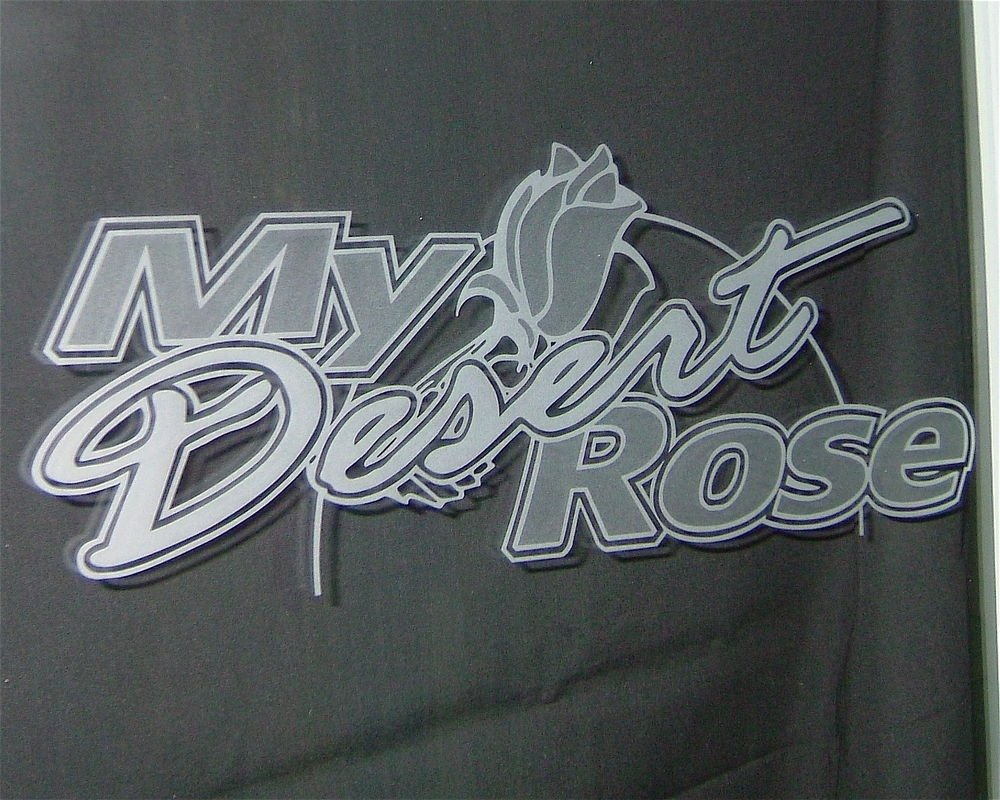 Sample Text with Glass Etching My Desert Rose by Sans Soucie