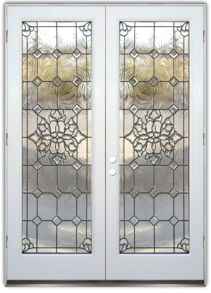 Beautiful bevels stained glass doors by sans soucie for White front door with glass