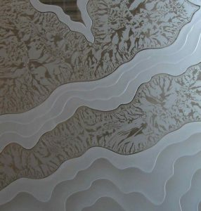 frosted glass rustic style mountain landscape rugged retreat IV sans soucie