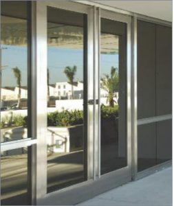 Stainless Steel Frame Doors Silver by Sans Soucie Art Glass