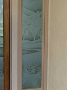Sans Soucie Door Insert Panels with Glass Carving and Shading