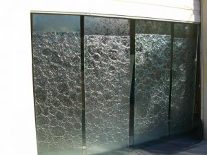 Sans Soucie Entry Frameless Doors with Glass Stone