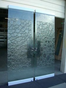 Front Frameless Doors with Glass Stone by Sans Soucie