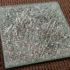 Bar Top Shattered Clear Glass sample by Sans Soucie