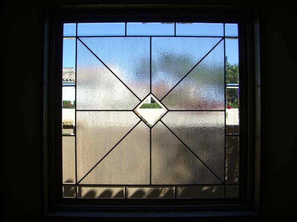 Design Window: Acute Angles Sq Glass Window Leaded Glass Modern Decor